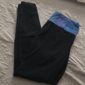 Tribal Print Black Leggings with Pocket